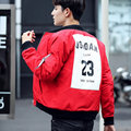 Autumn/winter New Flight Embroidery Printing Men's Jackets Printing 23 Hip Hop Coat Men Cotton Clothing Fashion Bomber Jacket