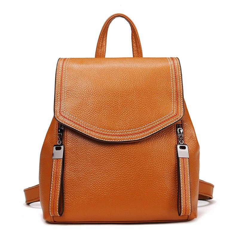 Nesitu высокое качество мода новый черный серый коричневый синий милый натуральная кожа маленький женский рюкзак девушка Женская дорожная сумка M191 - 3