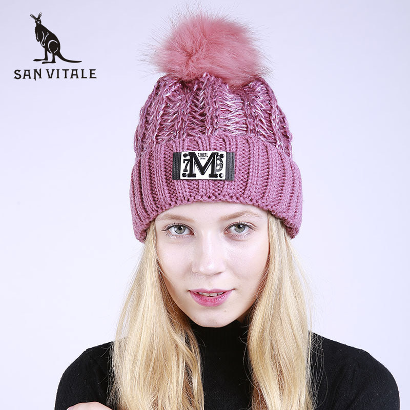 Skullies Beanies Hats Women Hats Winter Warm Famous Brand Beanie Fur Clothing Fashion Accessories Apparel For Ladies With Ears