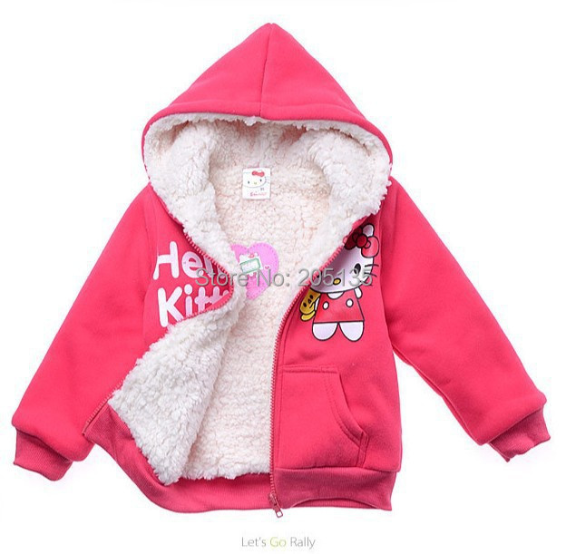 2016-Baby-girls-Hello-Kitty-coat-Hooded-fur-Sweater-Winter-Warm-Jacket-Children-outerwear-kids-clothes-retail-2