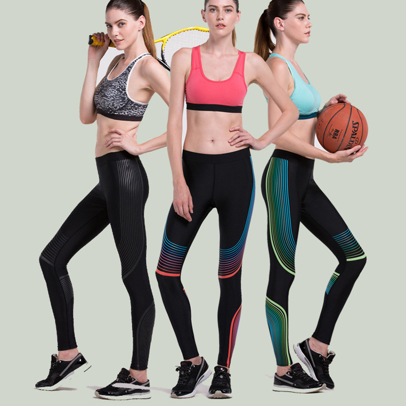 2017 New Sex Elastic Waist Stretched Sports Pants Gym -5473