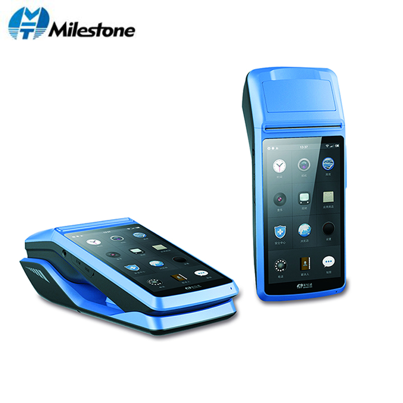 Milestone POS Terminal Printer Receipt Touch Screen Bluetooth WIFI GPRS POS Machine USB SIM  Portable Wireless Android