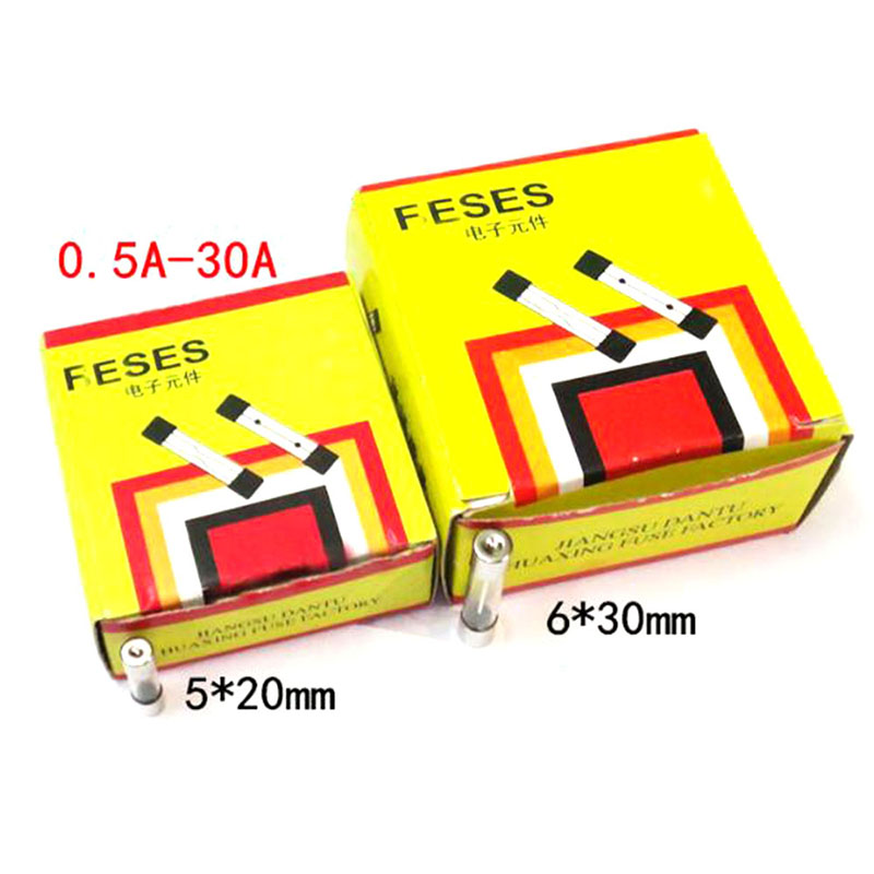 100pcs/box 5*20mm 6*30mm Fast Blow Glass Tube Fuses 5x20 6x30 mm 250V 0.5 <font><b>1</b></font> 2 3 4 5 6 8 <font><b>10</b></font> 15 20 <font><b>25</b></font> 30 A Amp image