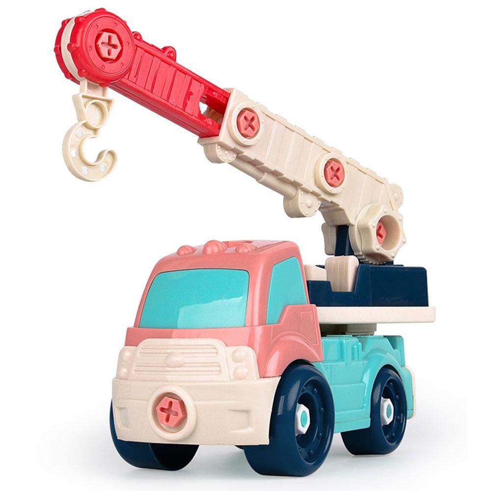 Новая модель автомобиля Пластиковый интерес Выращивание DIY автомобиль для подарка Прямая - Цвет: Boom truck
