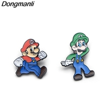 P2205 Dongmanli Fashion Enamel Pin Cute Mario Bros Brooch Large Vase Pins and Brooches fBest friends best gift Lapel Badge