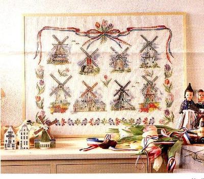Top Quality Lovely Hot Sell Counted Cross Stitch Kit Windmill Field Eight Windmills