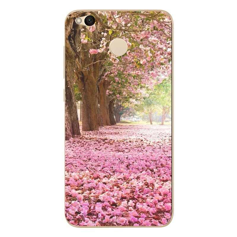 Pour Xiao mi rouge mi 4X Note 4 4A 3 mignon pour Xiao mi A1 Note 4 Pro fleur peinture motif TPU sacs couverture Fundas Shell D805