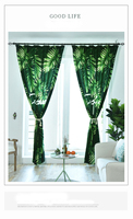 New Nordic Wind Plant Printed Sunshade Deluxe Customized Curtain Fabric