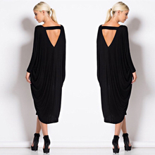 Summer Dress Women Loose Sexy Dresses For Women 2017 Black With Long Sleeve Plus Size