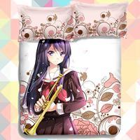 Anime Cartoon Hibike Euphonium Sound Euphonium Quilt Cover Soft Printed Bedding Set Duvet Cover Set
