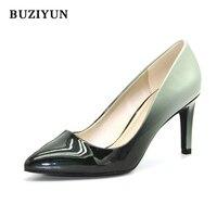 BUZIYUN So Kate Ayakkabı Tam Sezon Günlük Kadın Ayakkabı Rugan Pompaları 6 cm Yüksek Topuklu Kadın Ofis Ayakkabı 36-39 Boyutu