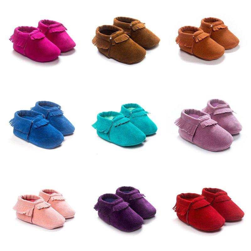 Odiniai batai odiniai batai PU naujagimiams mokasinai minkšti Moccs avalynė Bebe fringe minkšti minkšti neslystantys avalynė lovelė kūdikių batai