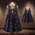 Новорожденных Девочек Платья Летние Соответствия Мать Дочь Платье Плюс Размер Леди Вишня Печати Хлопка малышей Семьи Clothing Vestidos