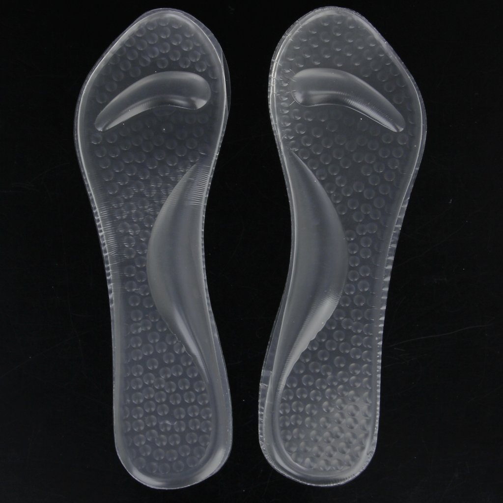 TEXU 1 pair Transparent Gel Insoles with Forefoot Arch Support Foot Fatigue/ Dtress/ Pain/ Massage все цены