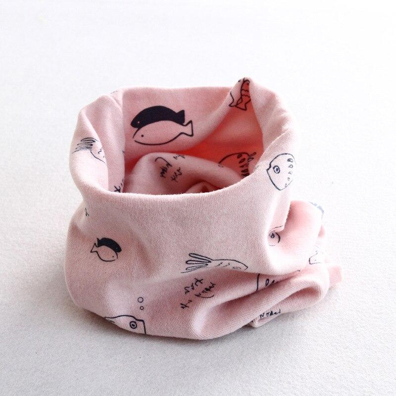 Осенне-зимний детский хлопковый шарф для девочек и мальчиков теплые шарфы Детский круглый кольцевой ошейник Детский шарф детский волшебный шейный платок - Цвет: fish 4