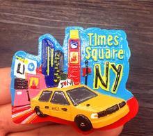 New York taxi street tourist souvenir refrigerator stickers