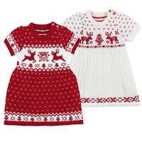 Suéter de punto de lana para niñas, vestido de ciervos de Navidad, vestidos para niñas, ropa de fiesta y boda, otoño e invierno, 2019