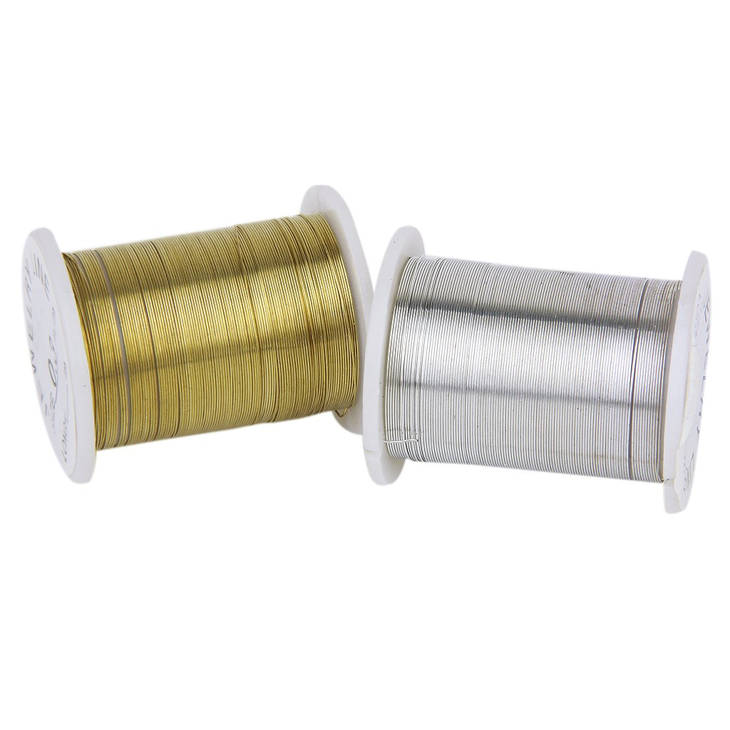 COFA 10 Rolls of Copper Wire Beading Thread Cord for DIY Jewellery Making Mixed Color---0.3mm
