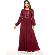 Abaya Thổ Nhĩ Kỳ Phục Hồi Giáo Malaysia Xếp Ly Hồi Giáo Hijab Đầm Abayas Cho Nữ Áo Dây Musulmane Dài Dubai Hồi Giáo Quần Áo