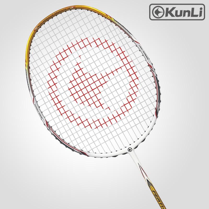 Original KUNLI Official Badminton Racket 5U 80g Feather K330 Full Carbon Professional Feather Racket Ultra Light Attack Racket