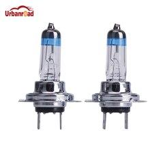 Urbanroad 2PCS H7 55W 12V Halogen Bulb Halogen Fog Lights Super White High Power Car Headlight Lamp Car Light Source Auto