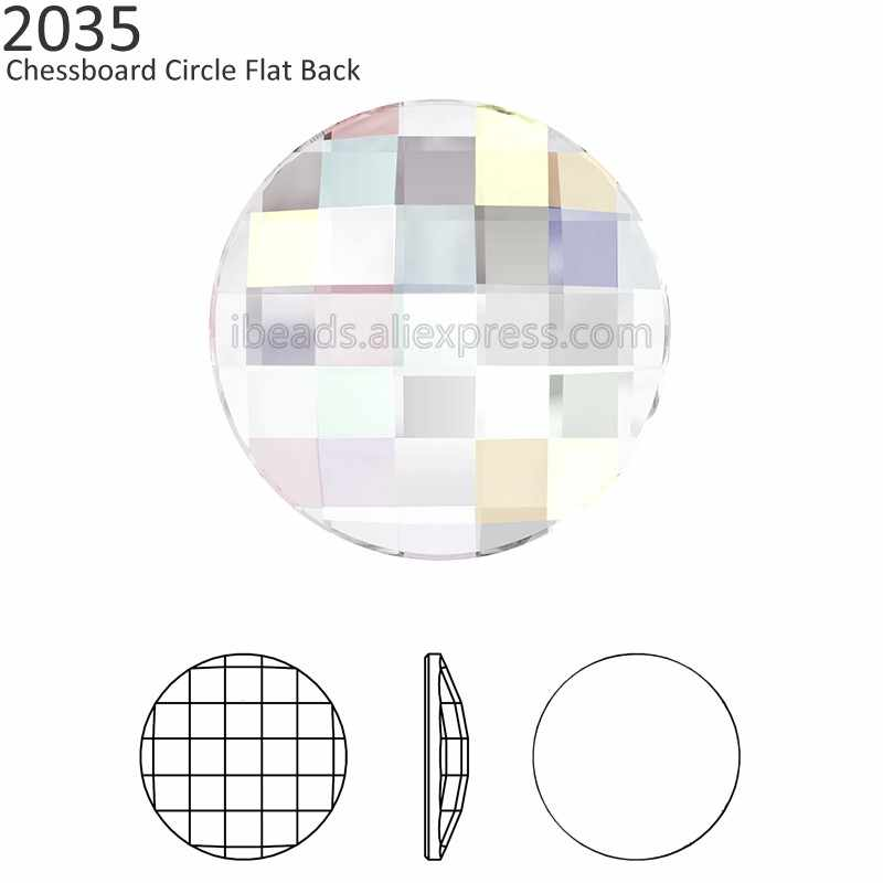 Detail Feedback Questions about (2 pieces) Original Crystals from Swarovski  2035 chessboard circle flat back no hotfix rhinestone for nail art decorate  ... 7bb25d94a487