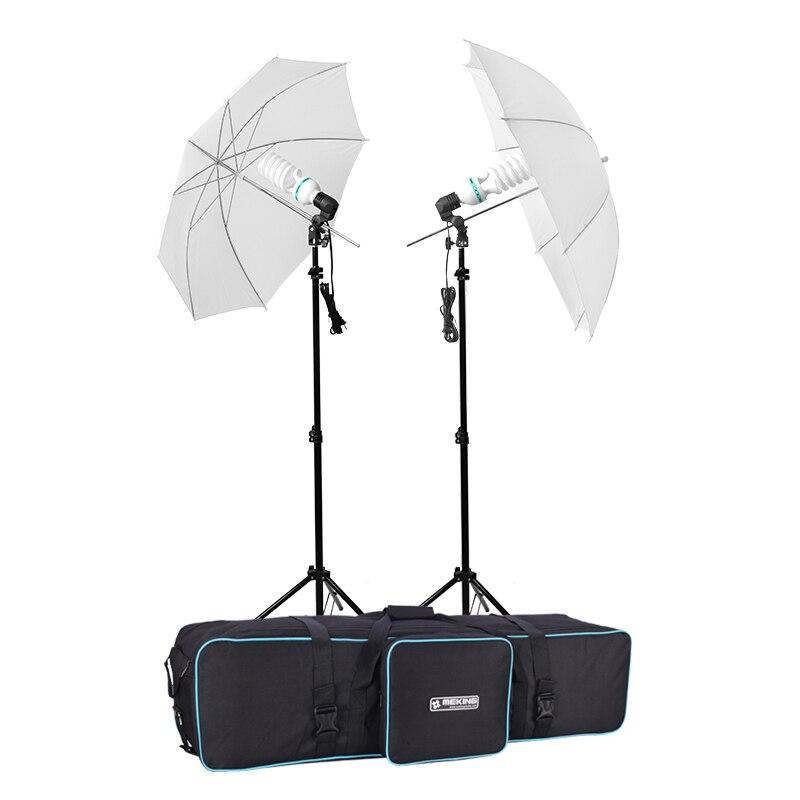 Selens Photography Umbrella Reflector Lighting E27 kit E27 light bulb 150w 5500K 220V with carry bag for Photo studio