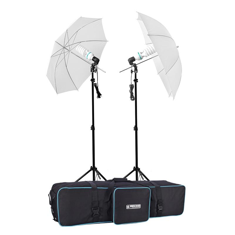 Selens photographie parapluie réflecteur éclairage E27 kit E27 ampoule 150 w 5500 K 220 V avec sac de transport pour studio Photo