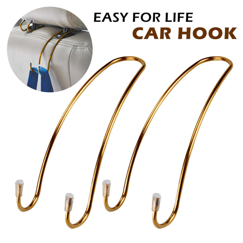Logam Multi Fungsional Mobil Jok Kait Auto Headrest Hanger Tas Klip untuk Mobil Tas Dompet Kain Kelontong Penyimpanan auto Pengikat