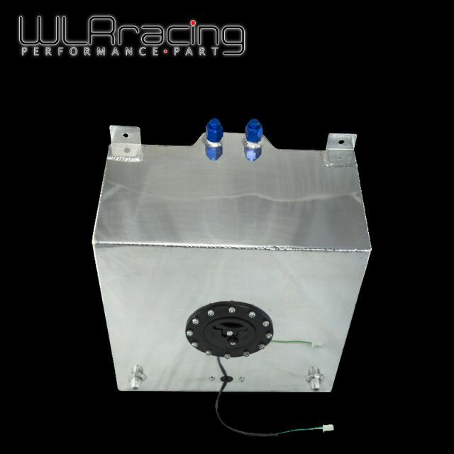 WLR RACING - 40L Aluminium Fuel Surge tank with Cap Fuel cell 40L with sensor foam inside WLR-TK40 wlr racing 30l aluminium fuel surge tank mirror polished fuel cell foam inside without sensor wlr tk67