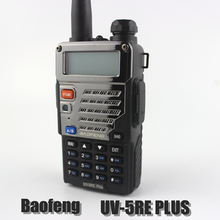 BaoFeng Walkie Talkie UV-5RE+Plus Black Ham Two Way Radio Dual Band VHF UHF UV-5re Plus FM VOX Dual Display Radio Comunicador