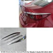 Автомобильный Стайлинг, задний фонарь для бровей/Накладка, светильник, рамка для лампы, ABS хромированная крышка, 2 шт. для Mazda 3 Axela M3