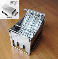 Stainless Steel Ice Pop Mould Durable Repeated Use 30pcs/set with Stick Holder