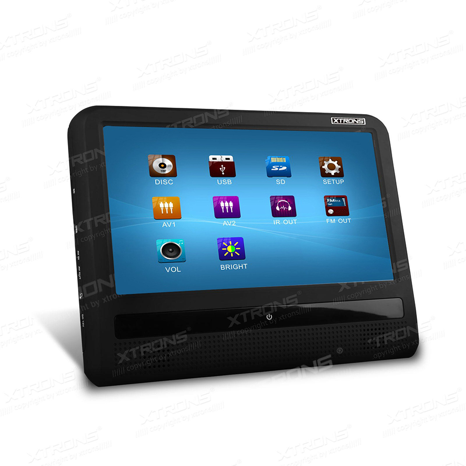9 both in car and home use headrest dvd player hd touch screen support 32