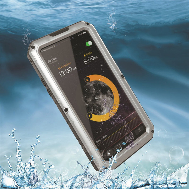 IP68 Waterproof Cover For iPhone XS Case Metal Hard Water proof Glass Diving Case For iPhone XS MAX XR Casing Shockproof Sports