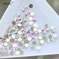 Volodia Mágica Colorida Brilhante Cristal ab Prego Strass 1440 pçs/lote Plana Volta Non Hotfix Glitter Pedras Unhas DIY Decoração 3d