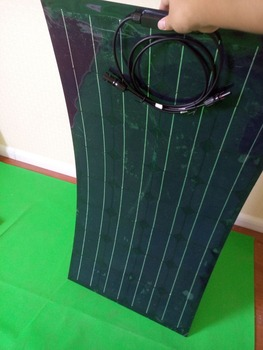 Black semi-flexible solar panel, household electricity, outdoor travel electricity first choice, power 100w