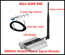 Sizzling !!! GSM 900Mhz Cell Cellphone Sign Booster , GSM Sign Repeater , Cell Cellphone Amplifier + 5 unit Yagi Antenna with 10m Cable