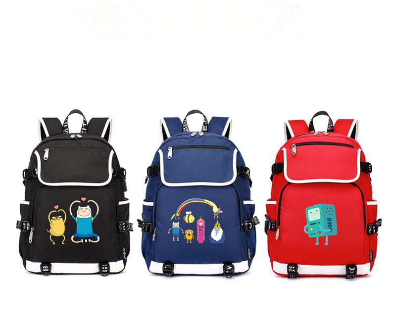 Adventure Time shoulder bag School Bag usb charging canvas Backpack Lumpy Space Princess Laptop travel rucksack for teenagers(China)