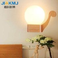 נורדי המודרני מינימליסטי creative הסיני חדש יפני LED מנורת קיר חדר שינה סלון המיטה מעץ מלא צבע יומן
