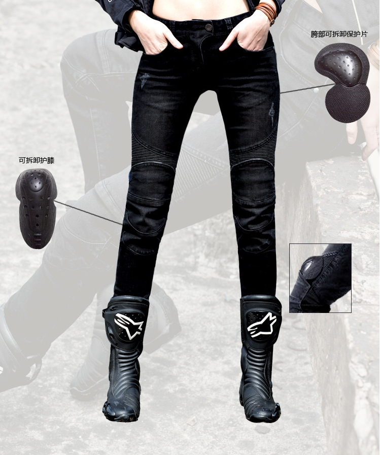 2016 Top Fashion New Women Pantalones Motocicleta Hombre Duhan Uglybros Featherbed Ms. Motorcycle Riding Pants Racing Jeans 2016 hot sale limited duhan motorcycle riding pants uglybros men s casual jeans highway motorcycle riding fashion personality