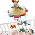 SHILOH Hot Sale Mamas&Papas Cot Hanging Toy Baby Rattle Toy Soft Plush Rabbit Musical Mobile Products 60 Songs Bunny Doll