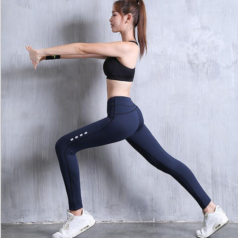 Women Leggings Yoga Pants Sports Exercise Tights Fitness Running Jogging Trousers Gym <font><b>Slim</b></font> Compression Pants Legging Sport wear