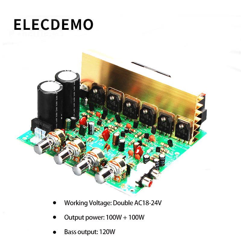 Audio Amplifier Board 2.1 Channel 240W High Power Subwoofer Amplifier Board AMP Dual AC18-24V Home Theater
