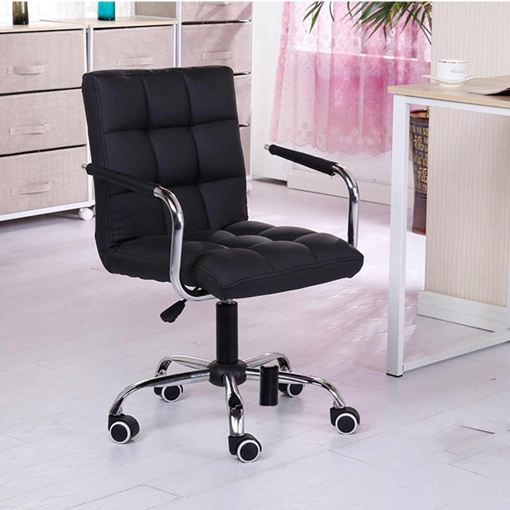 Reclining-Seat Chair Computer-Game Office-Work Adjustable Fashion Black Salon Beauty