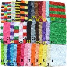 45 adet/grup 9 Inç Tığ delik Sıkı kalem elbise Kızlar Çizgisiz Waffle Kemer 43 renk U Pick D04