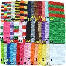 45pcs/lot 9 Inch Crochet holes Stretchy Tube Dress Girls Unlined Waffle Waistbands 43 color U Pick D04