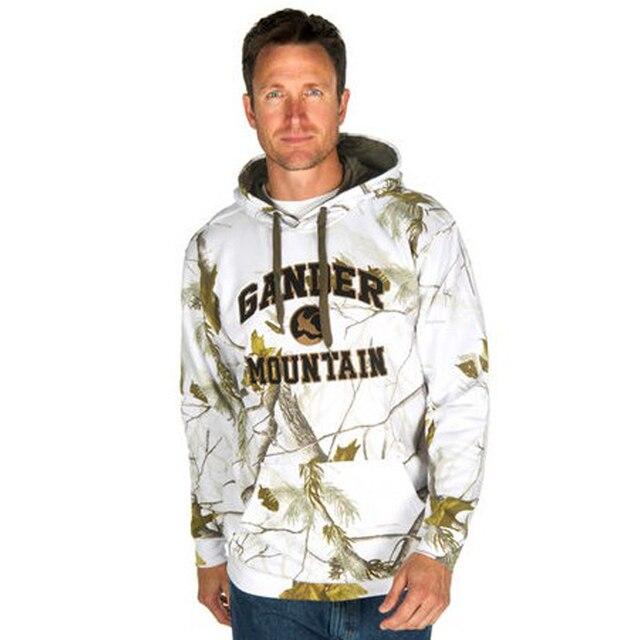 ae64012676 Outono e inverno camuflagem caça selva camuflagem Biônico pesca velo  camisola jaqueta pullover com um chapéu