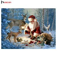 Free Shipping DIY Santas Diamond Embroidery Cross Stitch Needlework Craft Christmas Gifts Diamond Mosaic Painting Rhinestones