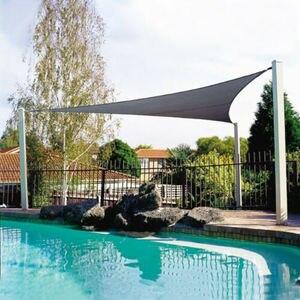Image 2 - مقاوم للماء الشمس المأوى مثلث ظلة حماية في الهواء الطلق المظلة حديقة فناء بركة الظل الشراع المظلة التخييم قماش للتظليل كبير